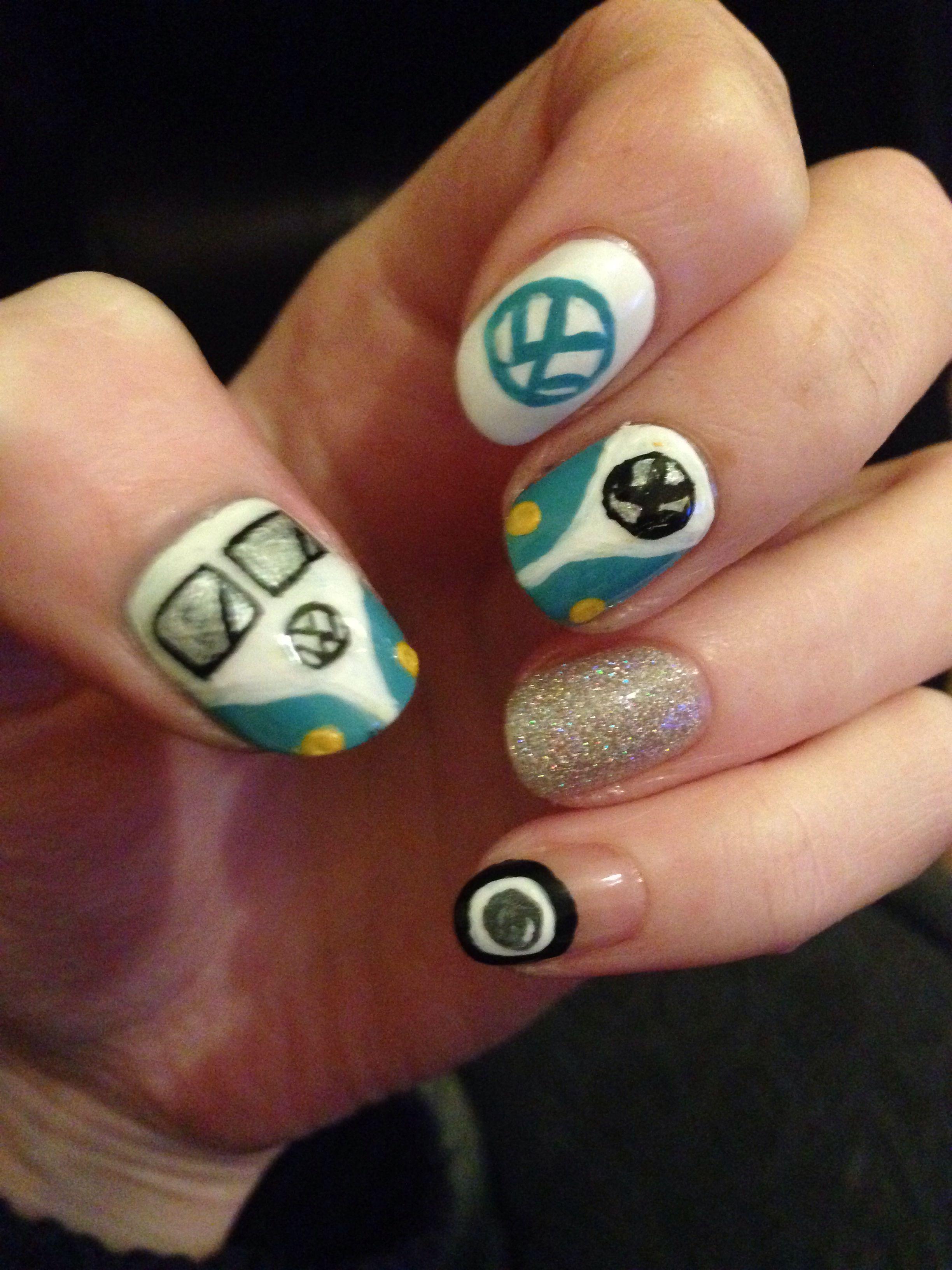 VW blue   Nails   Pinterest