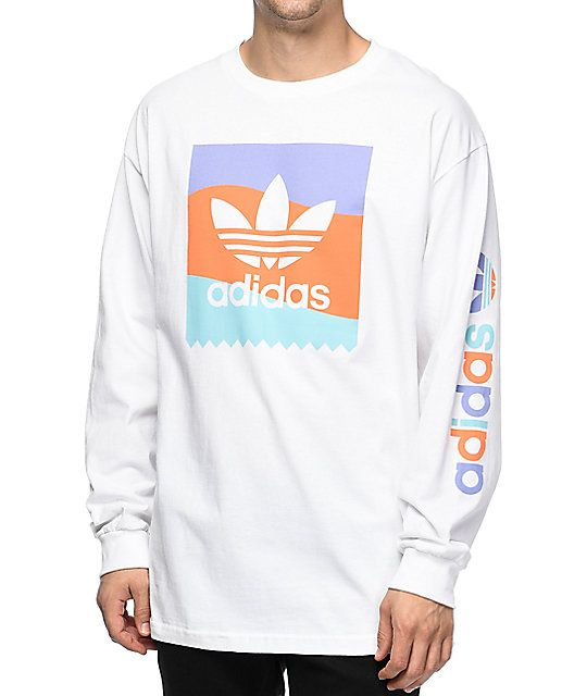 adidas trefoil long sleeve t shirt