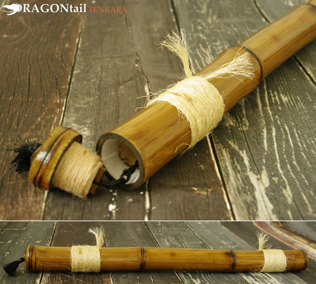 Tenkara Rod Tube Walnut Stained Bamboo Rod Case