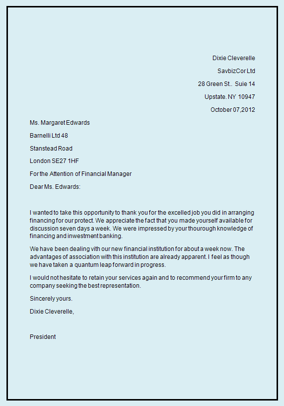 Business Letter Template  Business Letter Format Writing Business