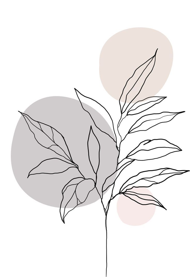 Minimalist one line art plant poster, plant painting, botanical poster, bedroom wall art, abstract a