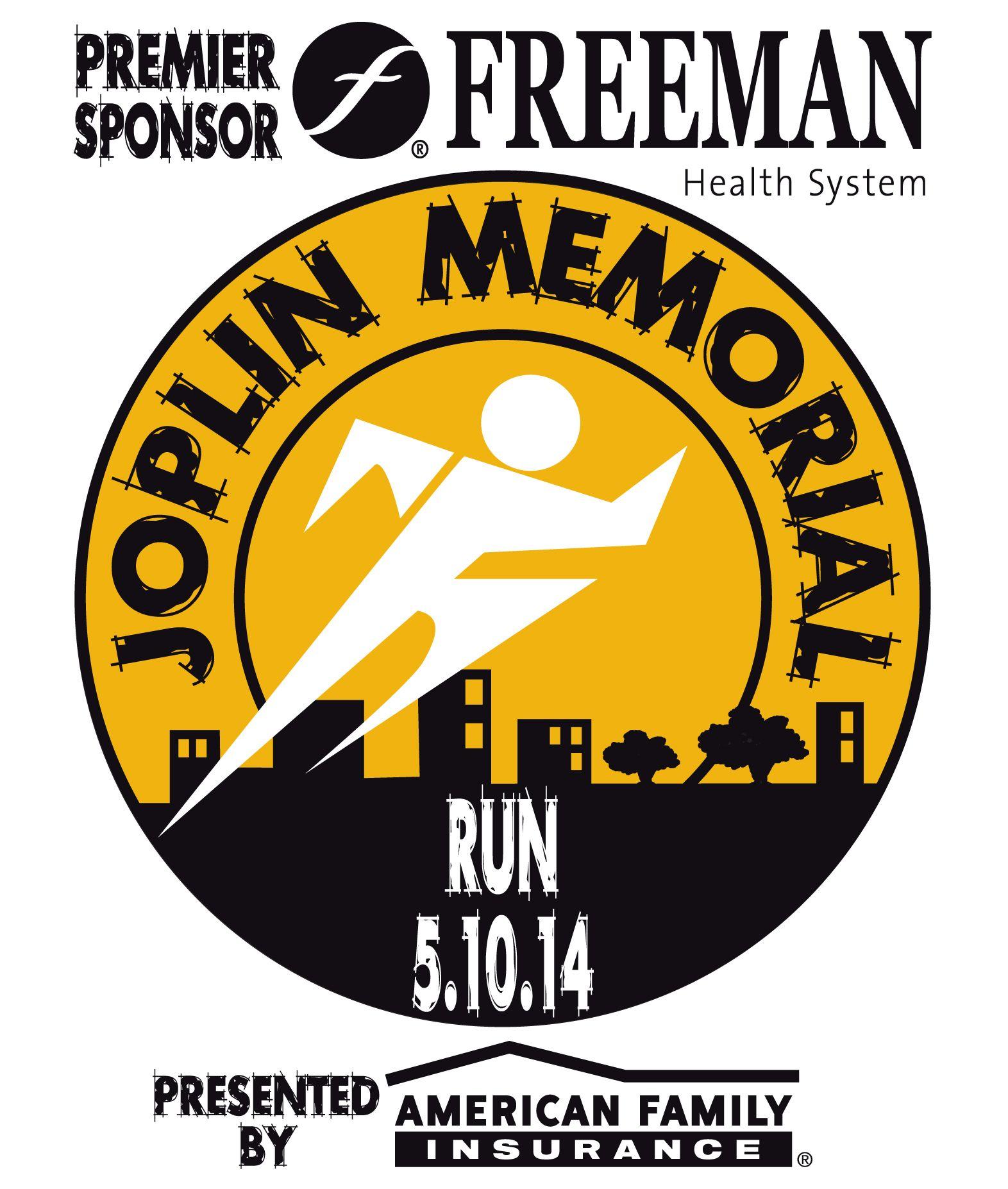 Joplin memorial run logo with images running joplin