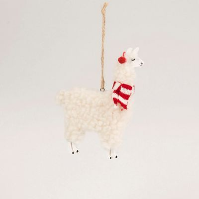 christmas llama tree decoration