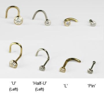 Nose Stud Tail Shapes From Bmg Ltd Body Jewelry Diamond Nose Stud Nose Stud