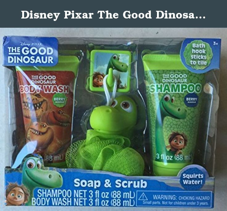 Disney Pixar The Good Dinosaur Berry Scented Soap & Scrub Set, 4 pc. Bath time just got fun again! Your little one's imagination will soar high while using his new favorite character's shampoo & body wash.