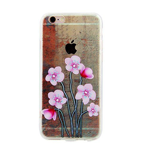 iPhone 6S Plus H�lle,iPhone 6S Plus TPU Case,iPhone 6 Plus Transparent Cover,H�lle f�r iPhone 6S Plus,Ultra Slim Soft TPU [Scratch-Resistant] [Perfect Fit] Cover,Colorful Pattern Pink Sunflowers Skin Slim Muster Bunte Cover Schutz H�llen Handyh�lle Etui Schale Schutzh�llen f�r Apple iPhone 6S/6 Plus