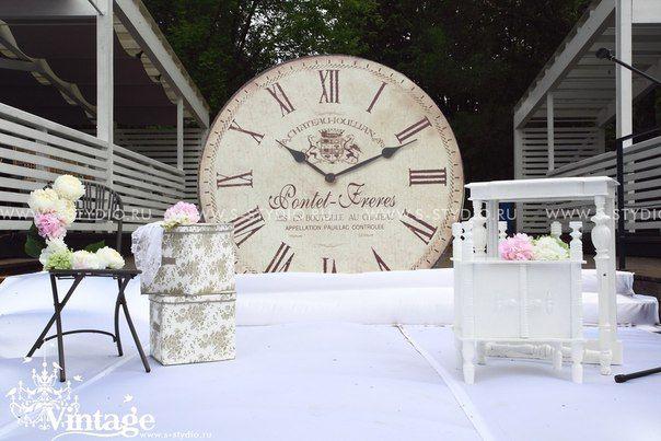 vintage wedding style the clock theme
