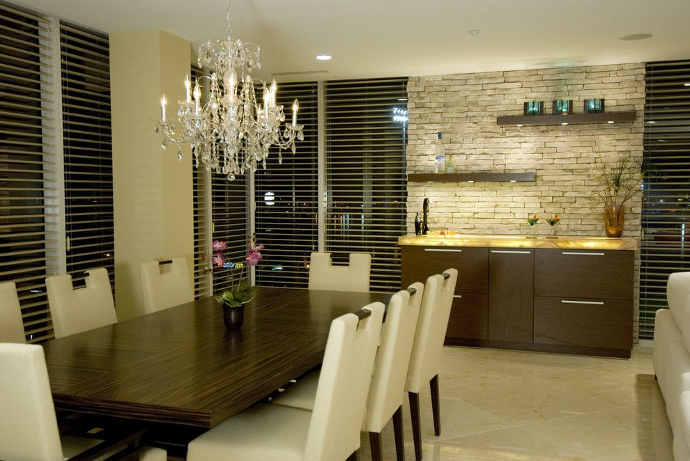 Contemporary Dining Room Cabinets Beauteous Love The Cabinets And The Wooden Slats  Just Because I Hate White Decorating Design