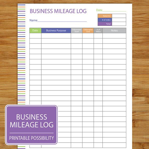 Mileage Log  Business Mileage Tracker  Auto Mileage Tracker