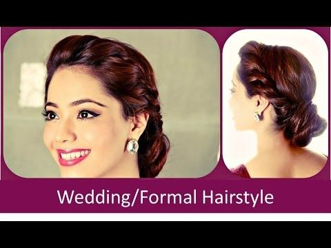 Simple Easy Diwali Festive Party Updo Hairstyle Hindi Youtube Formal Hairstyles Short Hair Styles Easy Hairstyle