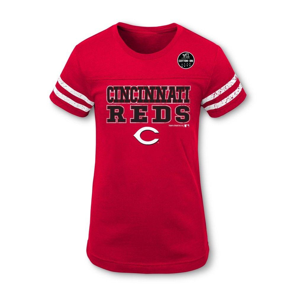 b3627b2691d2 Cincinnati Reds Girls' Double Play T-Shirt - XL, Multicolored in ...