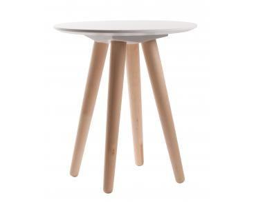 Zuiver Salontafel Bee.Bijzettafel Bee 45x50 Cm Wit Zuiver Furniture Bijzettafels