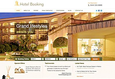 Hotel Booking Wordpress Theme for Hotel Reservation
