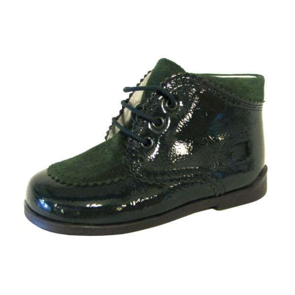 1bf439ad Zapato de niño clásico inglesito charol serraje verde bosque Piulin — en  Zapanines, zapatería infantil y complementos - www.zapanines.es