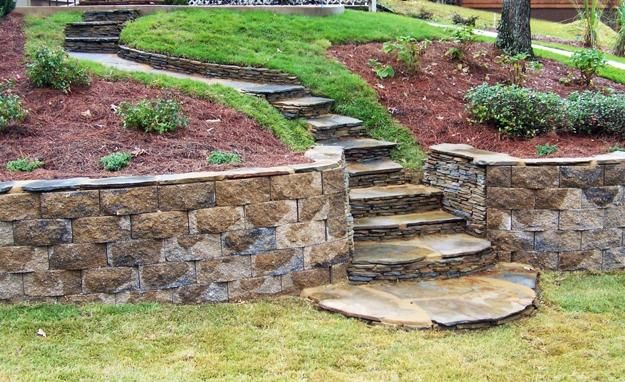 25 Beautiful Hill Landscaping Ideas And Terracing Inspirations Sloped Backyard Landscaping Backyard Landscaping Designs Backyard Landscaping