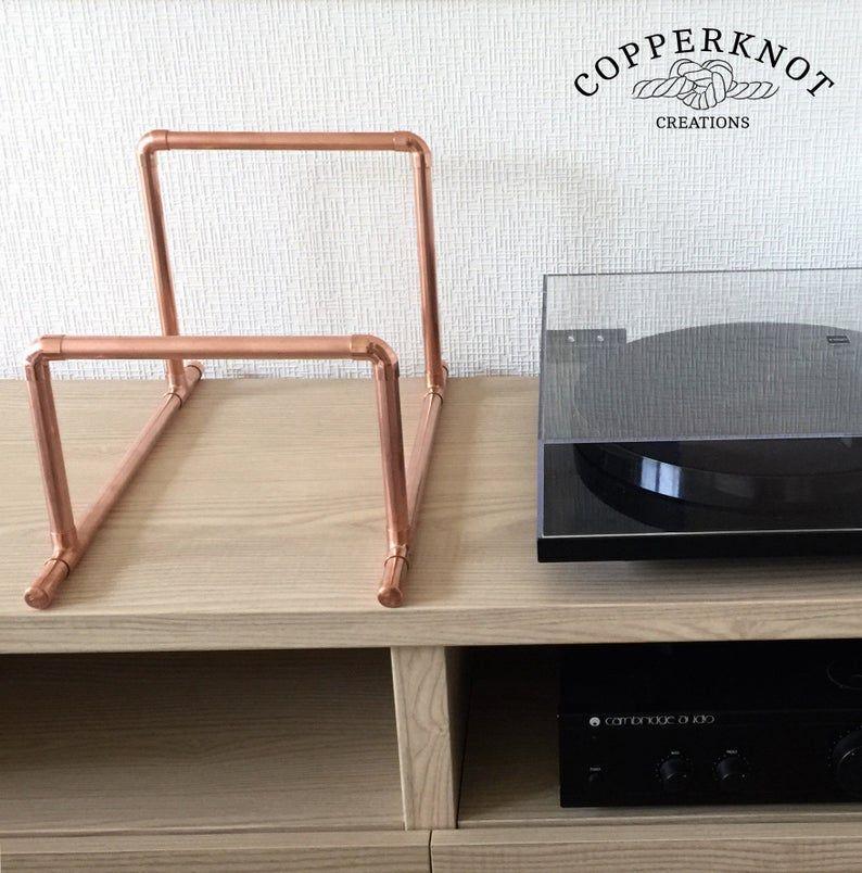 12 Vinyl Record Storage Copper Record Rack 12 Inch Etsy In 2020 Vinyl Record Storage Diy Record Storage Vinyl Record Storage