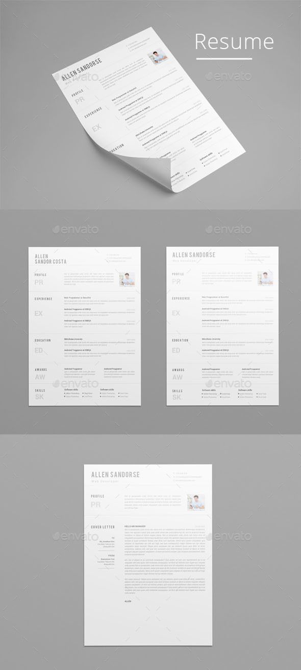Resume Design Idea Template - Resumes Stationery Template PSD - template for resumes