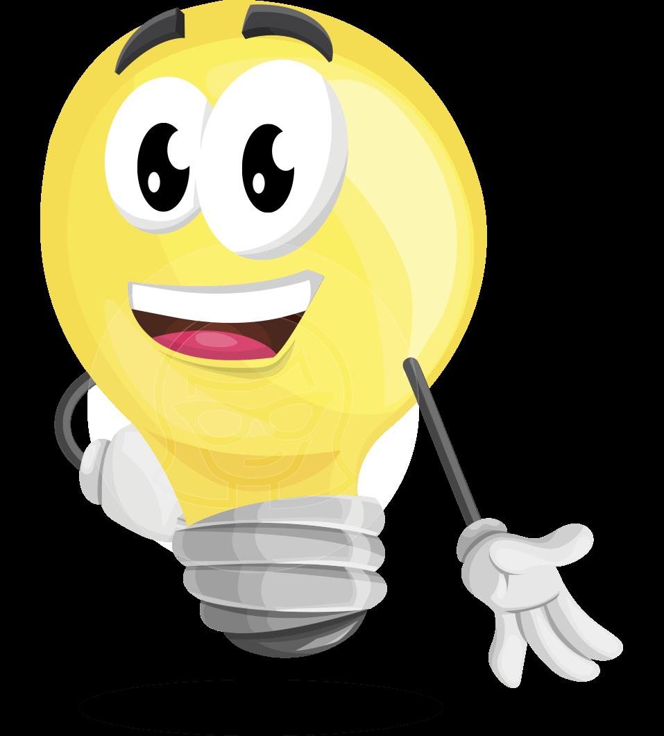 Light Bulb Cartoon Vector Character 112 Illustrations Graphicmama Cartoons Vector Vector Character Character