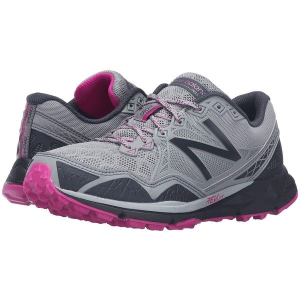 New Balance T910v3 (Grey/Purple) Women's Running Shoes ($100) ❤ liked