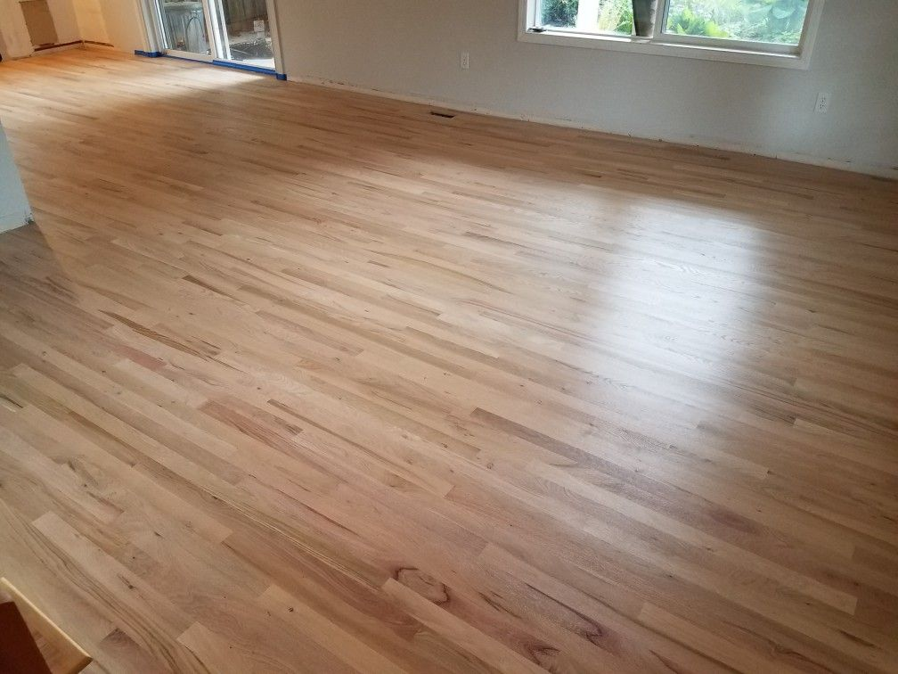2 1 4 Red Oak Hardwood Floor Installed Sanded Sealer
