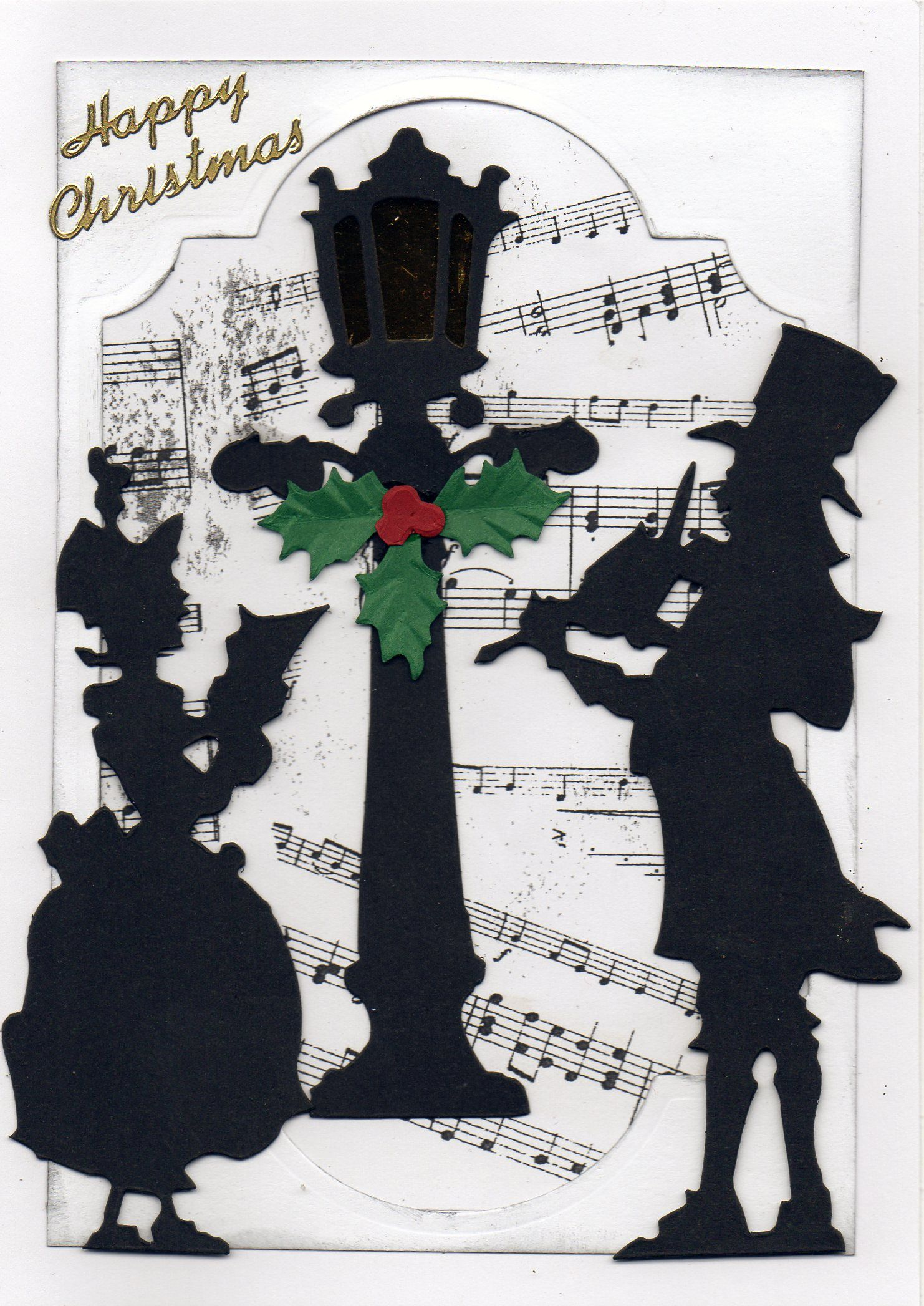 Tim Holtz Victorian Carol Singers And Lamp Christmas Cards