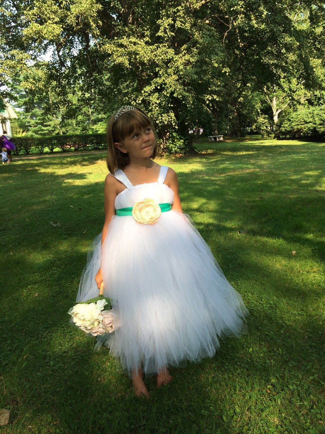 A personal favorite from my Etsy shop https://www.etsy.com/ca/listing/244988243/beautiful-white-tutu-dress-with-teal