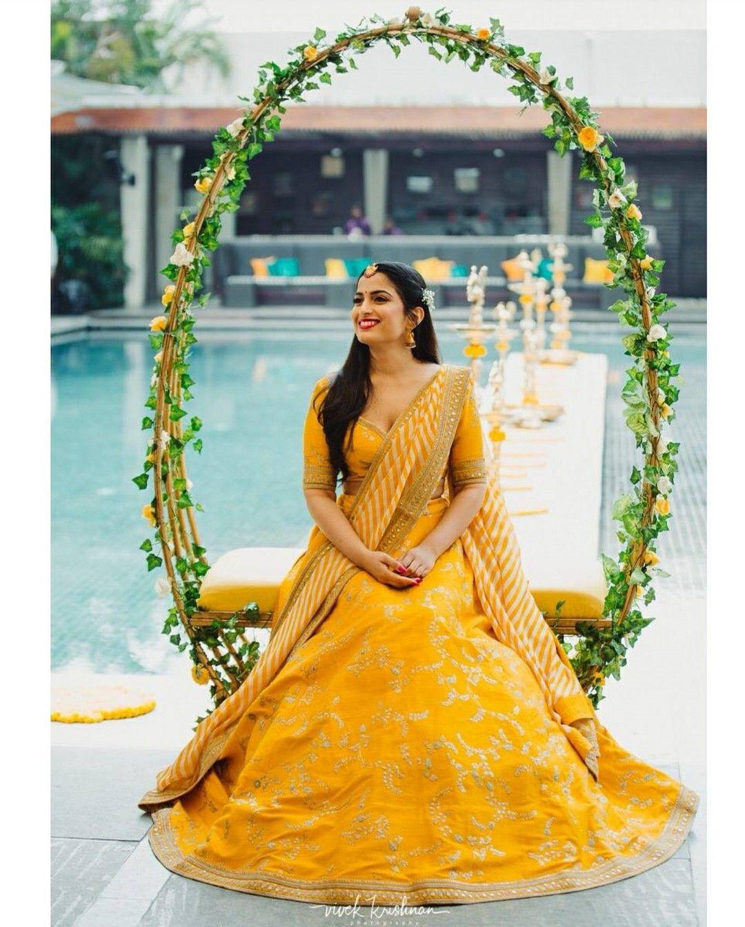 342a4c47b0 Haldi ceremony outfit Outfit courtesy: Sabyasachi Mukherjee Picture  credits: Vivek Krishnan via Instagram