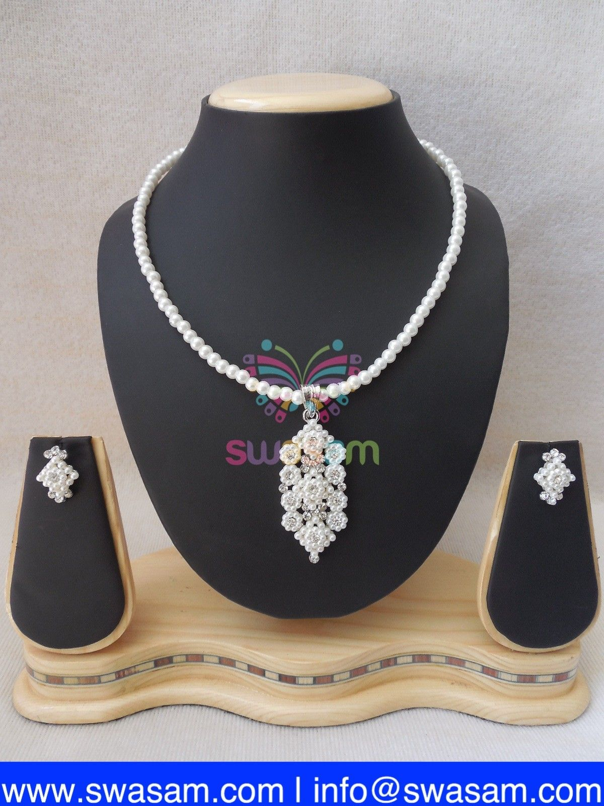 Indian jewelry store swasam pearl pendant set mala pendant