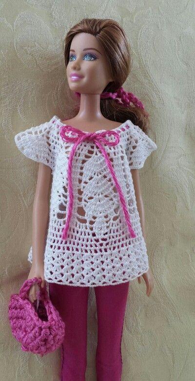 Sin patrón | Crochet Toys Barbie Clothes | Pinterest | Puppenkleider ...