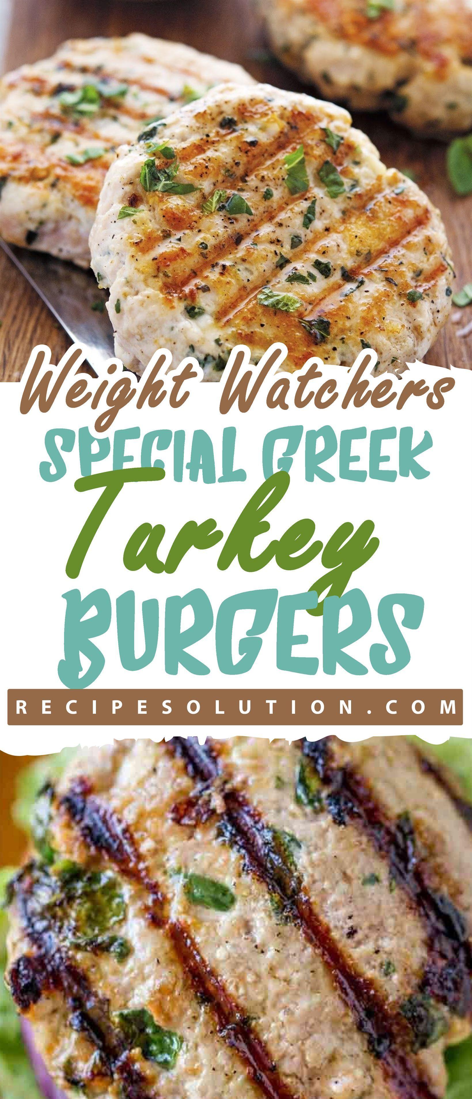 Ww 4 Smartpoints Special Greek Turkey Burgers Turkey Burger Recipes Greek Turkey Burgers Turkey Burgers Healthy