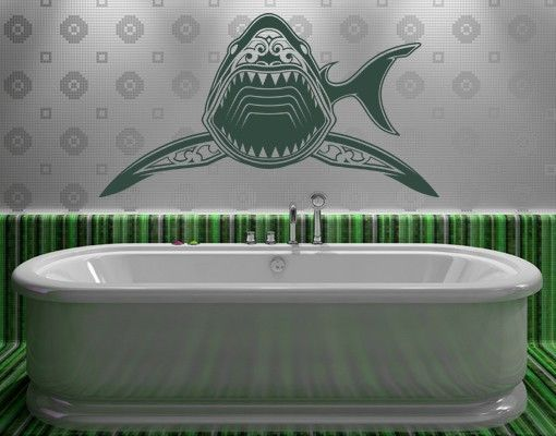 ik1198 Wall Decal Sticker Tattoo hammerhead shark style fish bathroom living