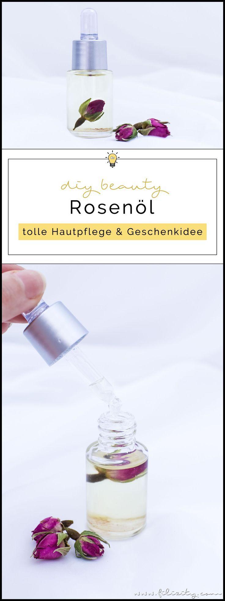 Rosenöl selber machen - DIY Hautpflege & Geschenkidee für Valentinstag #bodycare