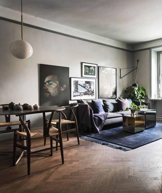 Dark And Moody Home Coco Lapine Design Minimalist Home Decor Minimalist Living Room Minimalist Bedroom Small