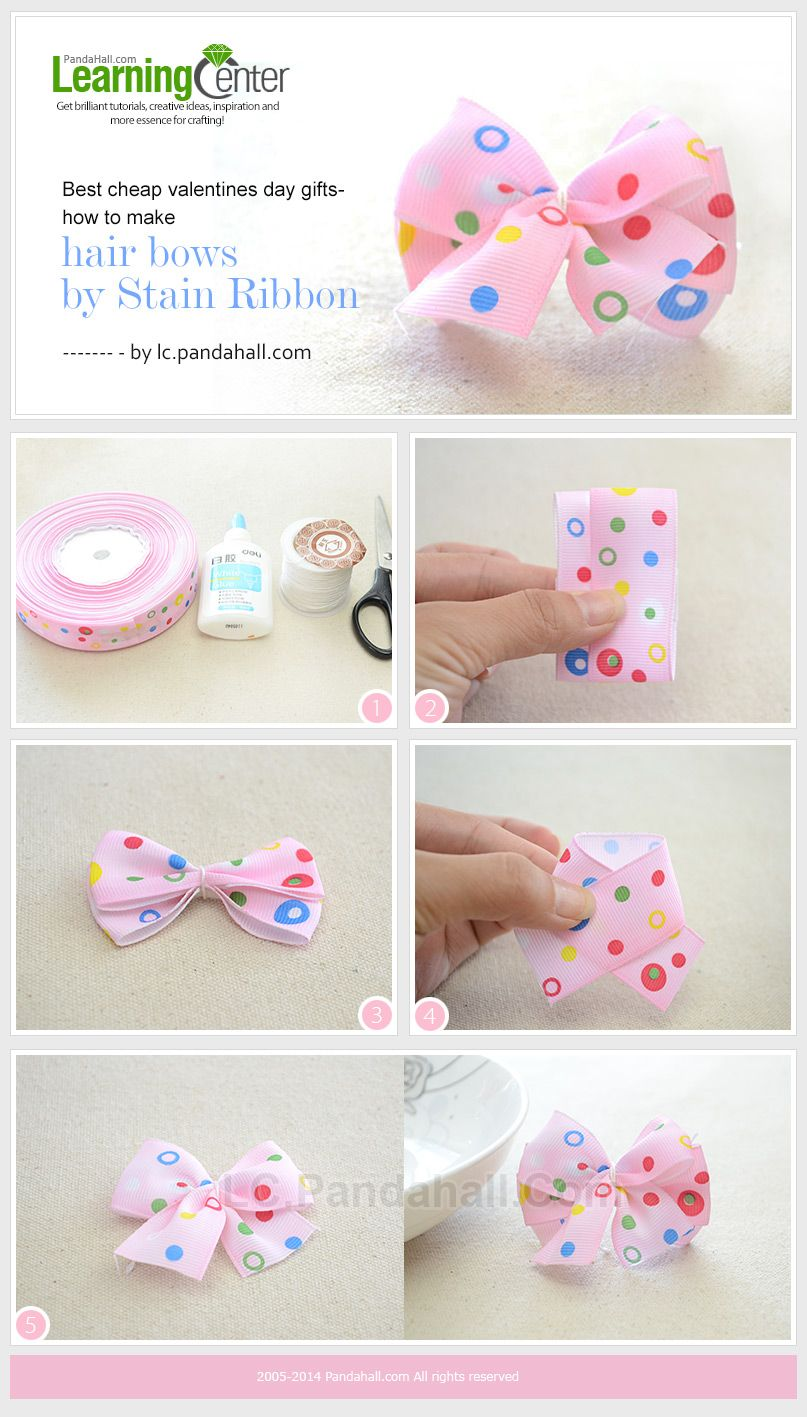 1316f78ccbc2 How to Make a Lovely Hair Bow out of Thin Ribbon within 5 minutes ...