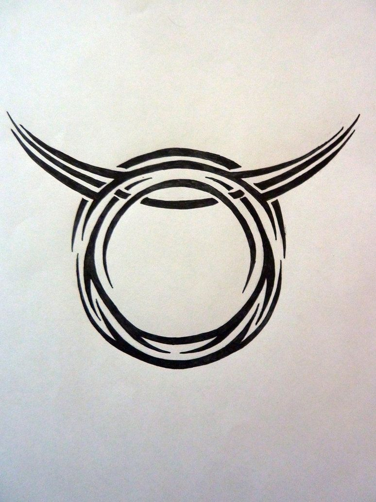 Taurus Tattoos Tribal Zodiac Taurus By Magpievon On Deviantart