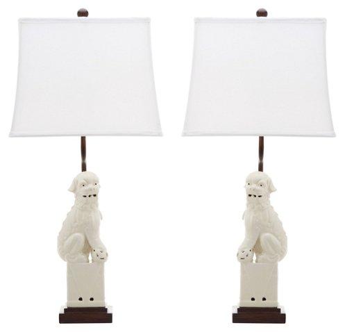 Foo Dog Table Lamp Set Cream Table Lamp Sets Dog Table Cream Table Lamps