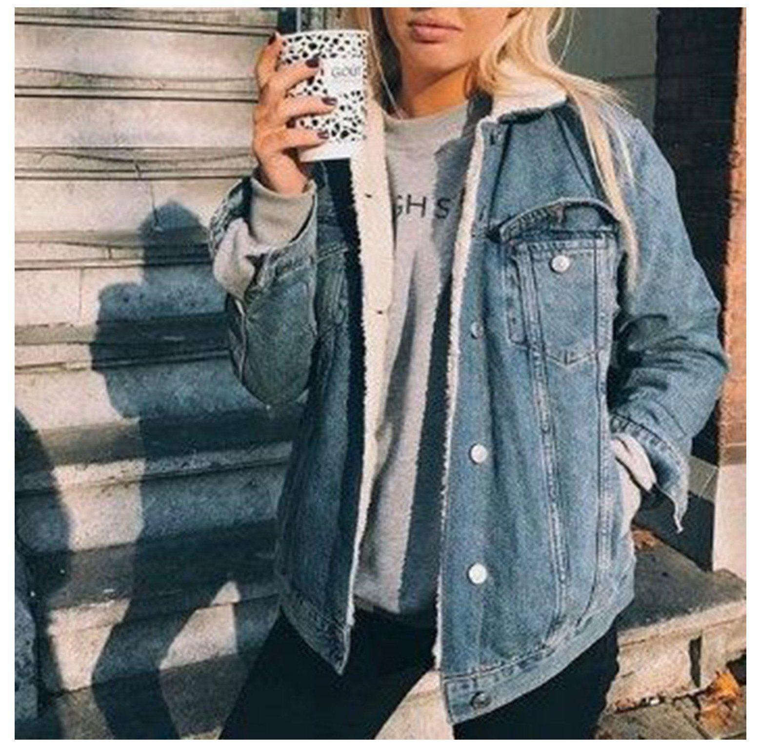 Jean Jacket Outfits Winter Teddy Fur Lined Jean Jacket Petite Denim Jacket With Fur Inside Denim Jacket With Fur Winter Jacket Outfits Petite Denim Jacket [ 1530 x 1560 Pixel ]