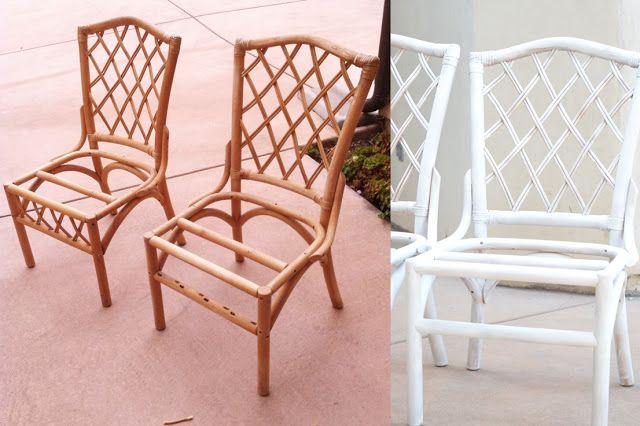 Sarah M. Dorsey Designs: Refinishing Rattan Chairs | Tutorial