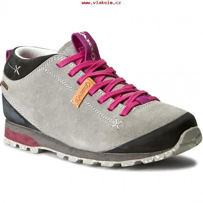 Promoční dámské Trekingová obuv AKU Bellamont Suede GT 504 Light  šedá Magenta 298 Moderní ad9eb5e8b4