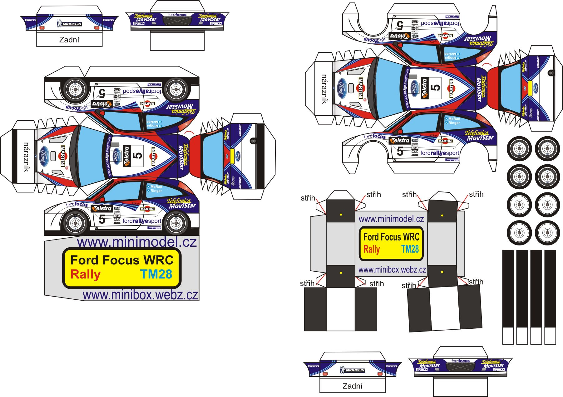 Ford Focus WRC Paper craft