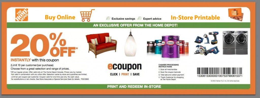 2015 Home Depot 20 Printable Coupons Home depot coupons