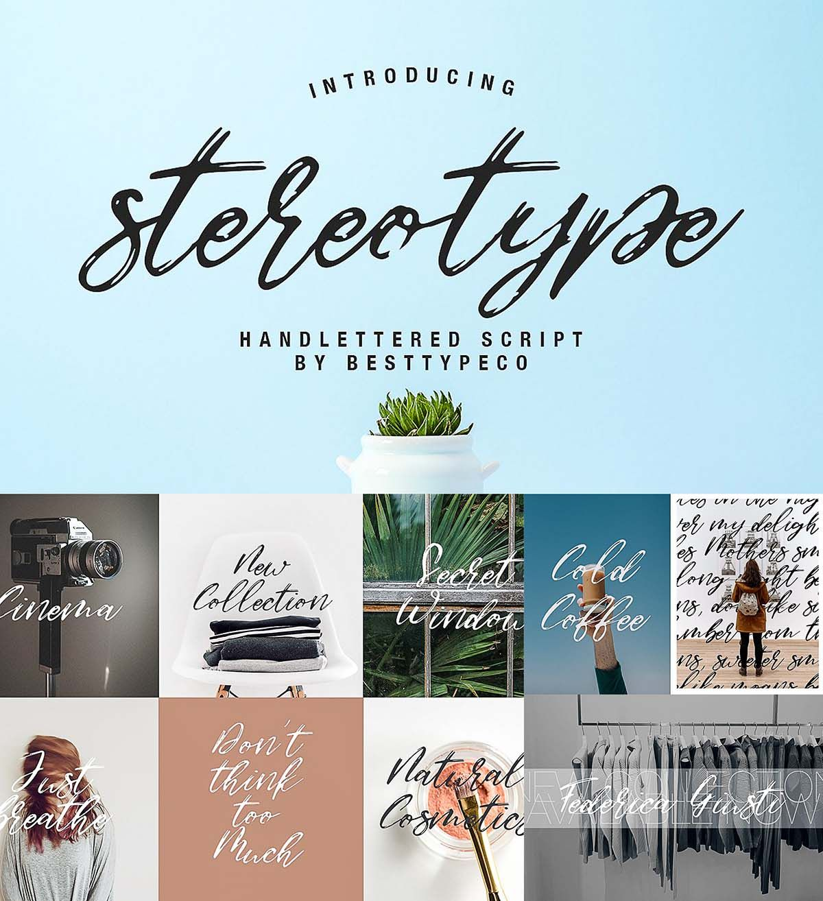 Introducing Stereotype A New Fresh Handmade Calligraphy Font Very
