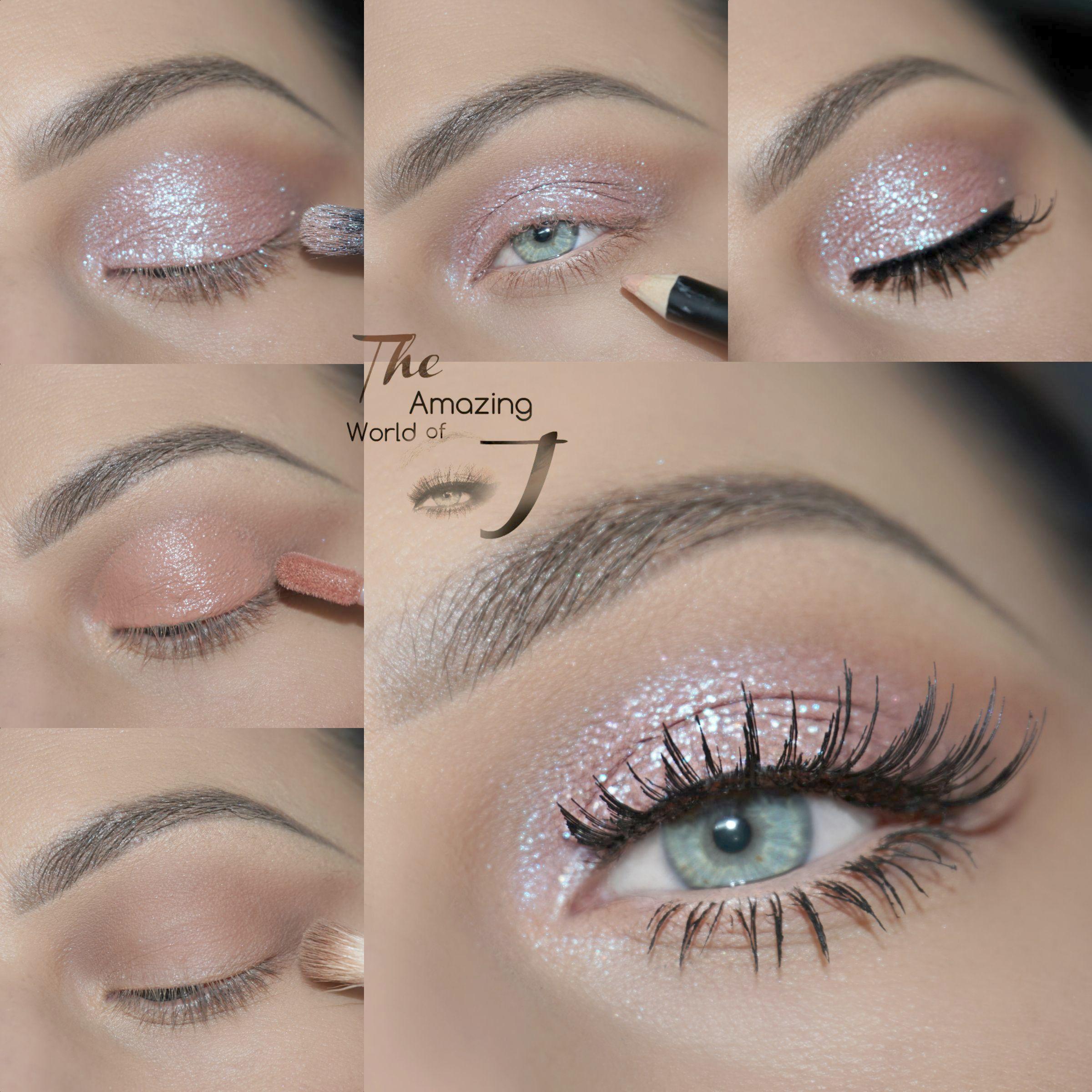 Glitter Eyeshadow Liquid after Glitter Eyeshadow Red