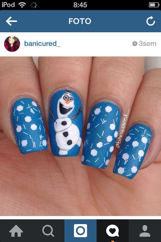 Encantador Disney Arte De Uñas Congelada Patrón - Ideas de Diseño de ...