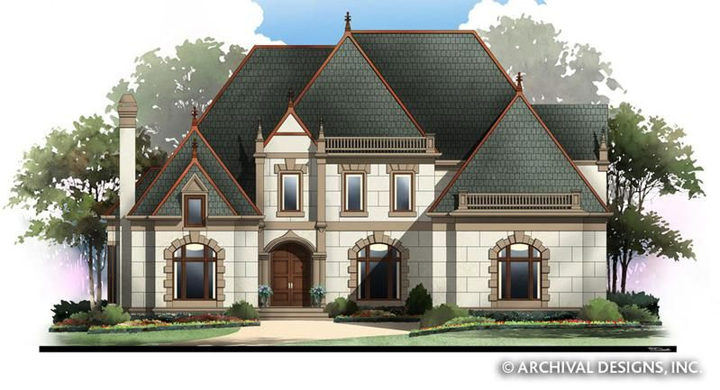 Live in your own mini castle The Wesmere luxury floor plan evokes a