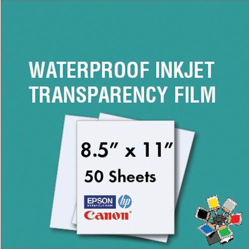 "PREMIUM Transparency film inkjet paper pack of 15 SHEETS 8.5x11 /""SHIPS FAST!"
