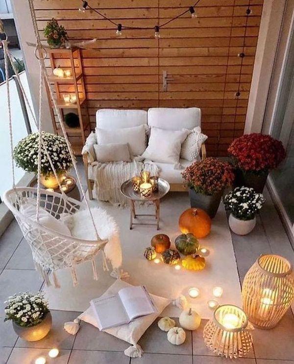 25 Super Wohnung Balkon Ideen für dieses Halloween #wohnungbalkondekoration