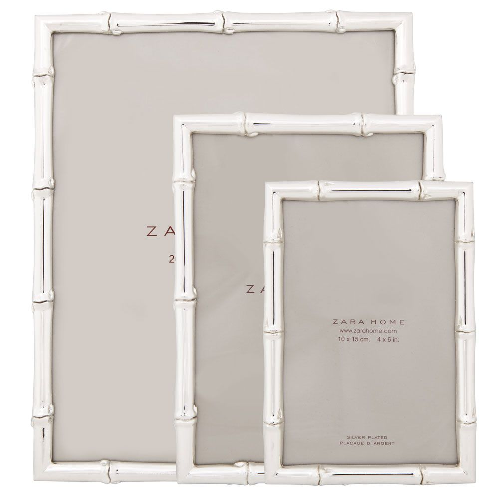 Metal Bamboo picture frame / Zara Home | Decorative Things | Pinterest