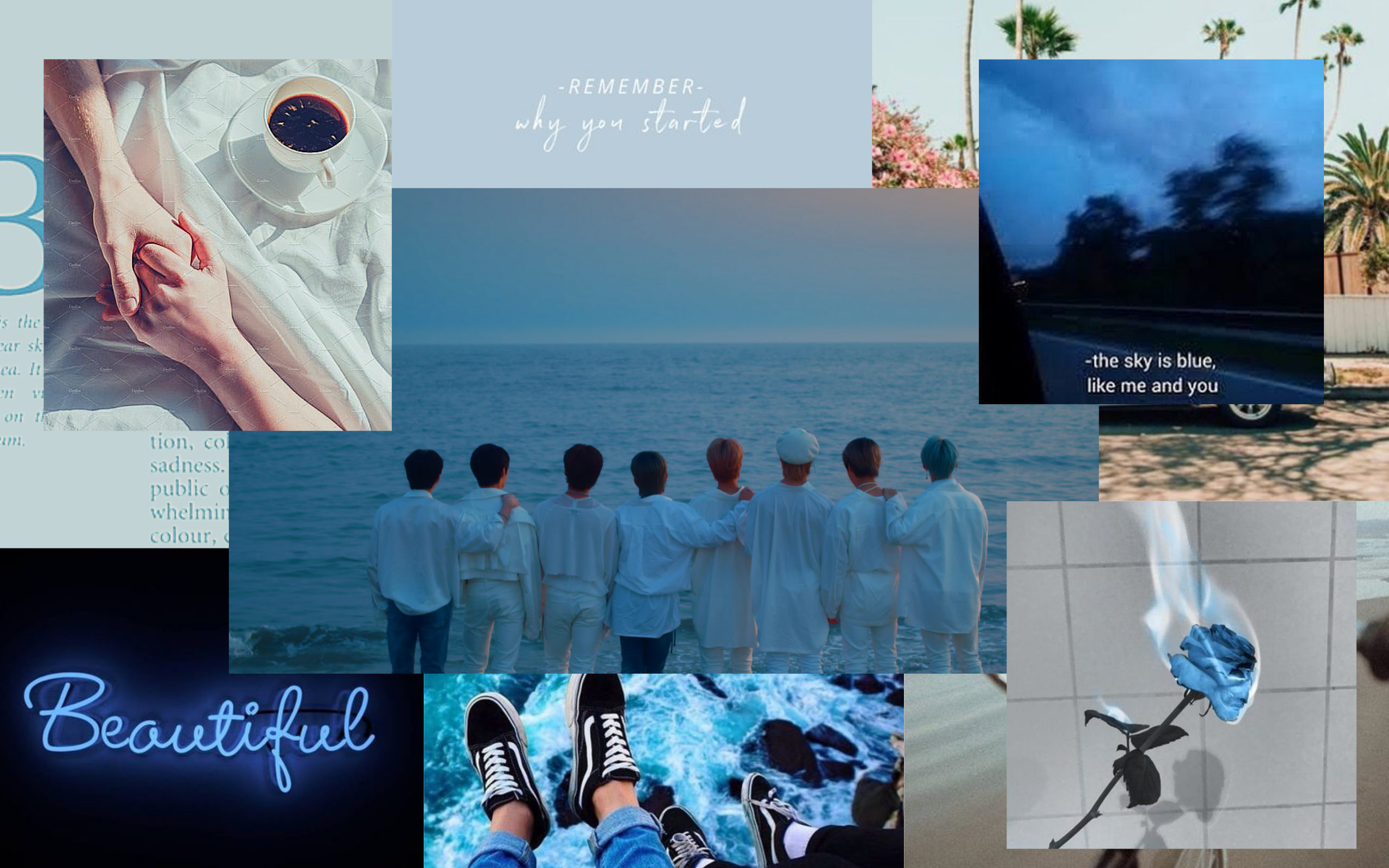 Stray Kids Desktop Wallpaper Blue Edition Wallpaper Dekstop Laptop Wallpaper Desktop Wallpapers Kids Wallpaper