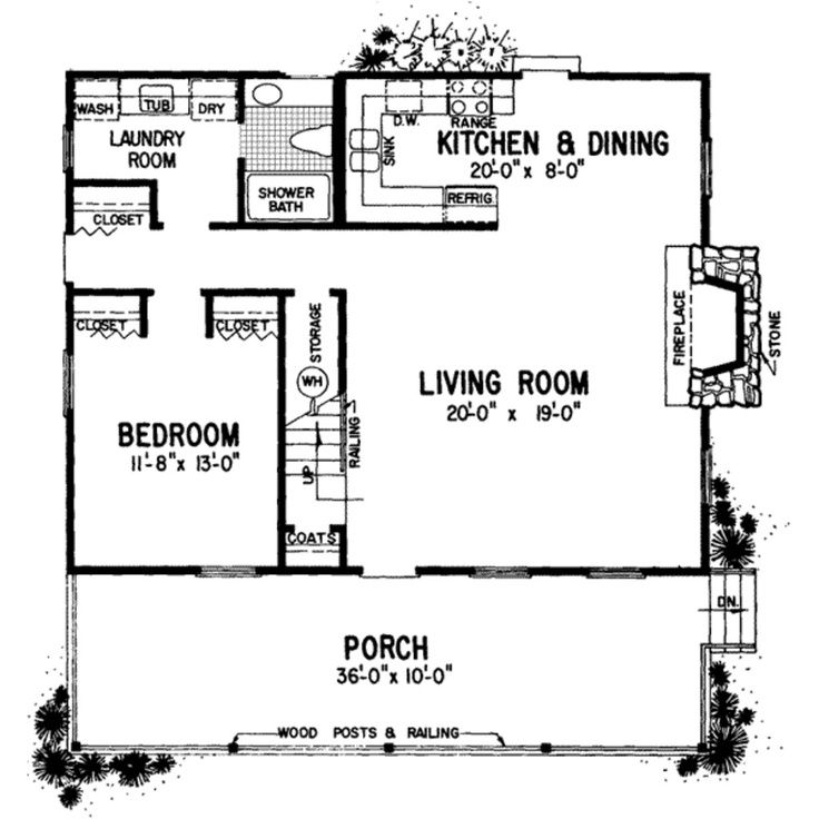 24 X 24 Mother In Law Quarters With Laundry Room Mother In Law Suite Country Style House Plans House Floor Plans Cabin Floor Plans